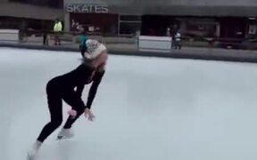 Extremely Skilful Ice Skating