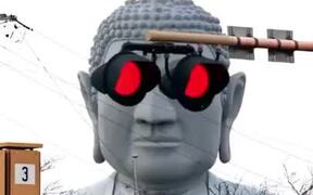 This Statue Of Buddha Is All About Cyberpunk!