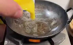Miniature Cooking Set Works Like A Real One