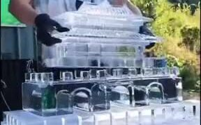 Creating An Incredible Ice Sculpture