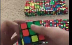 Amazing Harry Potter Portrait With Rubik's Cubes