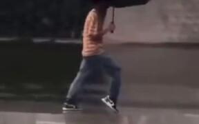 Doing A Moon Walk In Rain