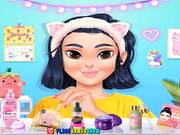 Kawaii Skin Routine Mask Makeover Walkthrough