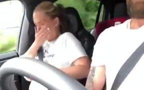 Pranking Girlfriend While Driving