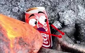 Experiment Lava VS Coca Cola