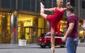 Ballerina Balancing On A Bottle