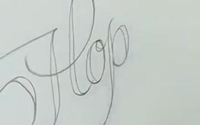 Coolest Pencil Calligraphy Technique Ever