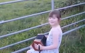 Cows Get Super Interested In Little Girl Playing