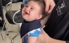 Ridiculously Cute Baby Gets First Haircut
