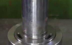 Candies Go Up Against A Hydraulic Press