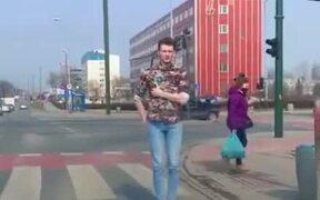 Guy's Moonwalk Game Is So Smooth