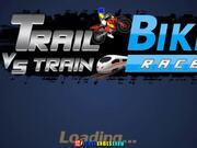 Trail Bike vs Train Race Walkthrough