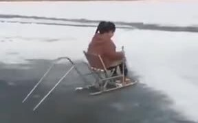 Unique And Cool Gizmo Used For Sliding On Ice