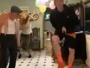 Grandpa Joins In On Some Irish Fusion Tap Dance