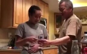 Father Falls Prey To The Bottle Prank