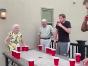 Grandpa Is The Real OG Of Throwing Balls In A Cup