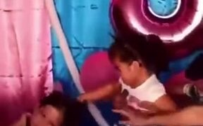 Two Toddler Girls Fight At A Birthday Party