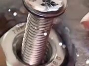 Very Satisfying Welding Of A Bolt