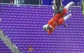 Absolutely Insane Freestyle Motocross Stunt