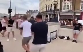 Guy Gets Beaten Badly At Football By A Little Girl
