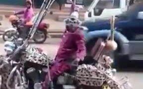 Tallest Ape Hangers On A Bike Ever