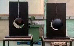 Pendulums Swinging Look Like Straight Up Eclipses