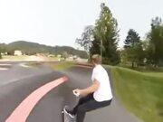 Cool Skateboarding In A Loop