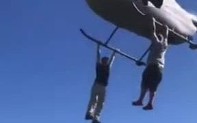 Not The Best Way To Ride A Helicopter