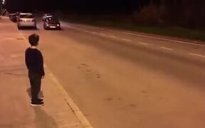 Kid Comes Face To Face With An Old Porsche