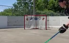 Hockey Player's Aim And Control