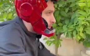 The Iron Man Bike Helmet