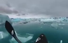 Kayaking Through The Frozen World Of The Arctic