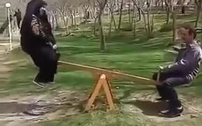 Couple's Swing Game Session Ends With Disaster