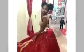 Kid Gets Impressed By Girl's Princess Dress
