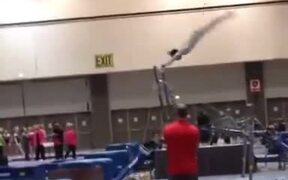 Gymnast Has A Rather Bad Accident