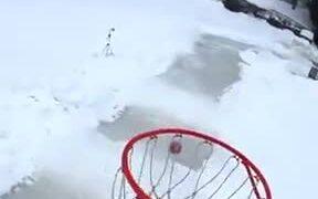 Cool Mix Of Basketball And Ice Skating
