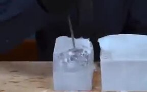 Bartender Makes The Perfect Ice Ball