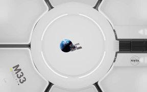 Space Station Fisheye view 4k ultra HD