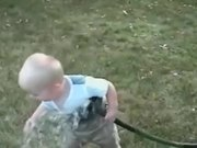 Kid Tries to Drink Water