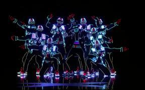 Light Balance Dancers Light Up The Stage