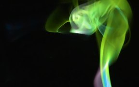 Coloured Smoke on Black