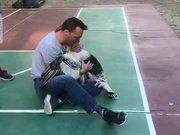 Dog Gets Jeleous Of Turkey