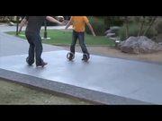 Hammacher Schlemmer's Sidewinding Circular Skates