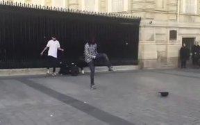 Amazing Moonwalking Street Performer