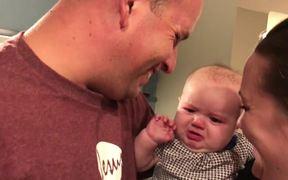 Baby EllaIs Jealous Of Kissing
