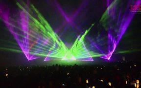 Lasershow Flammende Sterne 2015