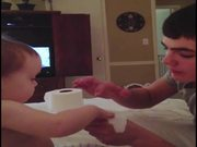Baby Amazed By Magic Trick