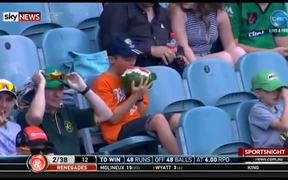 Kid Eating A Whole Watermelon