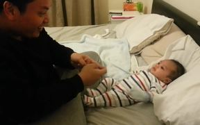 Father And Baby Dance Off