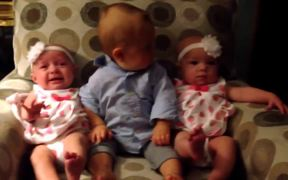 Baby Meets The Twins